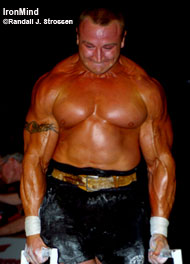 Want to learn how to handle problem situations? Ever heard of the Pudzian Academy? Three-time World's Strongest Man winner Mariusz Pudzianowski is in the bodyguard business. IronMind® | Randall J. Strossen, Ph.D. photo.