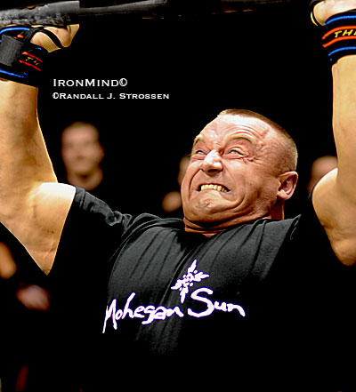 """He's a warrior,"" says Mariusz Pudzianowski's co-manager Wojtek Witkowski, and if his will has its way, Mariusz will be winning his fifth MET-Rx World's Strongest Man contest this year. IronMind® 