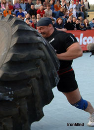 Mariusz Pudzianowski - always the man to beat - is on this weekend's World Strongman Cup card. IronMind® | Photo courtesy of Martin Muhr.