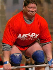 UNLV strength coach Mark Philippi, the face of strength, on his way to winning the Hummer Deadlift at the 2004 Arnold strongman contest (Columbus, Ohio). IronMind® | Randall J. Strossen, Ph.D. photo.