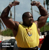 Mark Felix, the Grenadian strongman who will be competing in the upcoming WSMSS Polish Grand Prix, appears primed for a top performance. IronMind® | Photo courtesy of TWI.