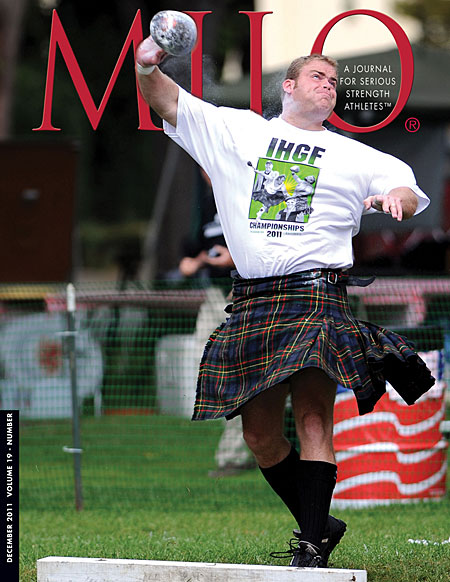 Elite Highland Games competitor Dan McKim is a top choice for adding another IHGF world championships title to his impressive string of victories when the world's leading heavies head to Dana Point, California.  IronMind® | Randall J. Strossen photo.