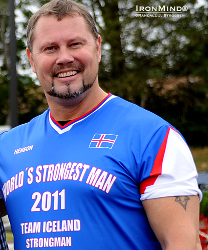 Four-time World's Strongest Man winner Magnus Ver Magnusson is organizing the 2012 World's Strongest Disabled Man contest.  IronMind® | Randall J. Strossen photo.