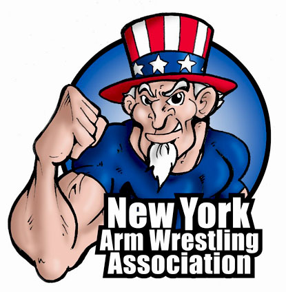 New York Arm Wrestling Association (NYAWA) is hosting weekly practice sessions - open to all.  IronMind® | Artwork courtesy of Gene Camp/NYAWA.