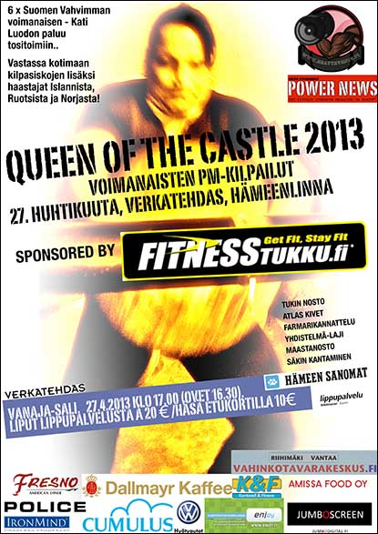 Set in a theater, the 2013 Queen of the Castle will crown the Scandinavian strongwoman champion.  IronMind® |  Image courtesy of United Strongman®.