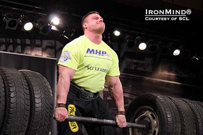 Krzysztof Radzikowski is the season leader so far in the 2013 MHP SCL strongman series.  IronMind® |  Photo courtesy of SCL.
