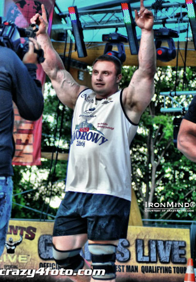 Krzysztof Radzikowski won Giants Live–Poland and is headed to World's Strongest Man 2012.  IronMind® | Courtesy of crazy4foto.com.
