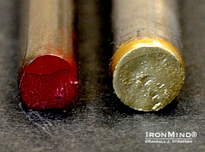 Short steel: Beefy (IronMind Red Nail) and Beastly (IronMind Gold Nail).  IronMind® | Randall J. Strossen photo.