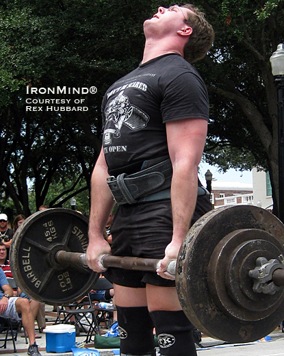 Rex Hubbard told IronMind that he's interested in strongman and powerlifting, as well as grip strength.  Chances are that when Rex is practicing law, his convincing handshake and formidable physical presence will be significant assets.  IronMind® | Photo courtesy of Rex Hubbard.