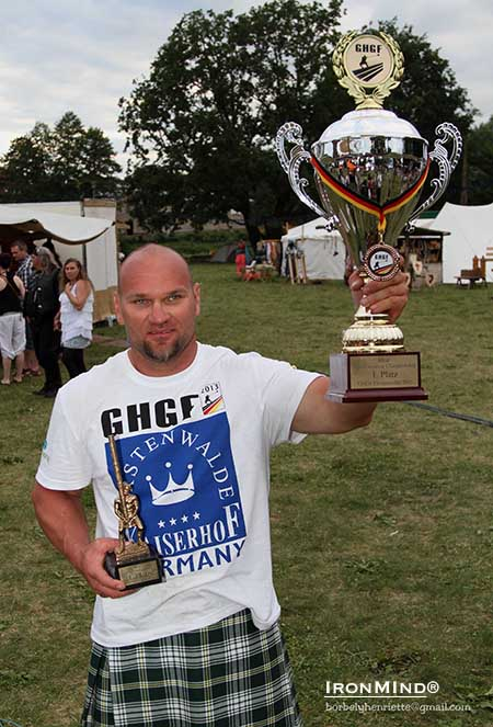 Robert Fazekas is the 2013 IHGF World Amateur Highland Games champion.  IronMind® | Photo courtesy of bobelyhenriette@gmail.com.