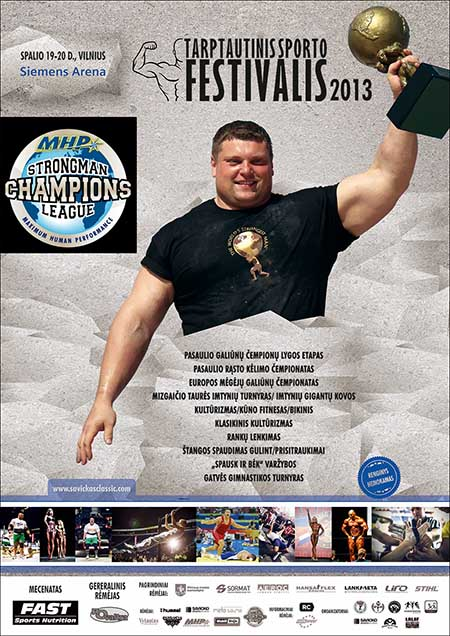 Zydrunas Savickas, the king of the hill in strongman, will be center stage in his hometown this weekend as Strongman Champions League brings the Log Lift World Championships and MHP SCL–Lithuania to the Siemens Arena in Vilnus.  IronMind® | Image courtesy of SCL.