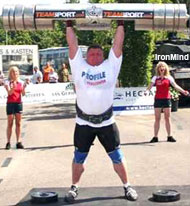 See it tomorrow night on Eurosport: Zydrunas Savickas does a world record 205-kg on the log lift at the IFSA Dutch Grand Prix. IronMind® | Photo courtesy of Marcel Mostert.