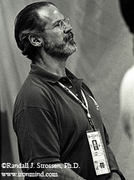 No armchair or keyboard expert, three-time US Olympic weightlifting team coach Jim Schmitz knows the trenches well: At the 2001 World Weightlifting Championships (Antalya, Turkey), Jim got the call to coach the only US lifter who made the trip, Jackie Berube. IronMind® | Photo by Randall J. Strossen, Ph.D.