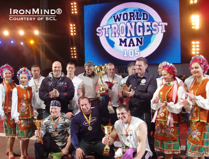 Fierce winter weather was no match for the competitors and officials who made their way to Kiev, Ukraine last weekend for the Strongman Champions League 105-kg World Championships.  IronMind® | Photo courtesy of SCL.