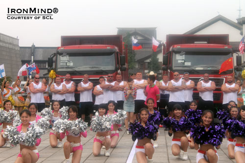 Group shot before the Truck Pull, and a really heavy one at that.  IronMind® | Courtesy of SCL.