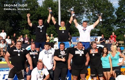 Misha Koklyaev won the Strongman Champions League competition in Holland this weekend.  IronMind® | Marcel Mostert photo.