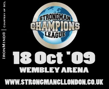 Zydrunas Savickas headlines the card when Strongman Champions League - London comes to Wembley Arena.  IronMind® | Artwork courtesy of Sandra Donskyte/SCL.