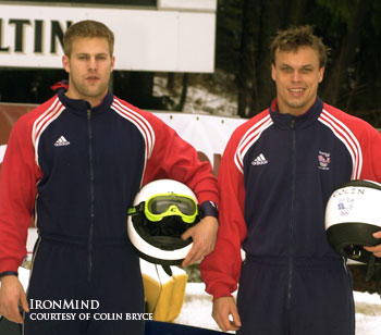 Scott Rider (left) and Colin Bryce (right), training for the 2002 Olympics. IronMind® | Photo courtesy of Colin Bryce.