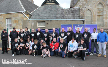 Here's the whole group from Scotland's International Most Powerful Woman competition last weekend.  IronMind® | Photo courtesy of Anett Von Der Weppen.