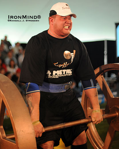 Stefan Solvi Peturrson, who was a huge hit at Fortissimus 2008, is the defending Iceland's Strongest Man.  IronMind® | Randall J. Strossen photo.
