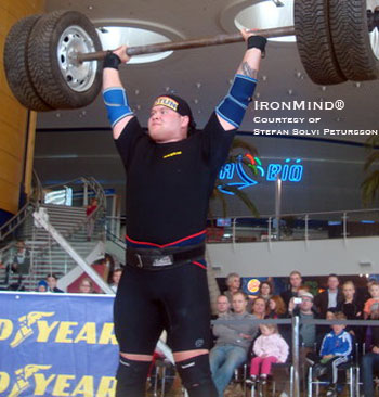 """Stefan Solvi Petursson, from Iceland, recent winner of Iceland's Strongest Man and training supervised by four-time World's Strongest Man winner Magnus Ver Magnusson."" IronMind® 