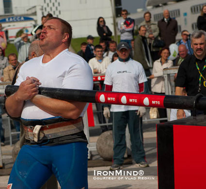 Tarmo Mitt won the Belarus Strongman Cup competition in Minsk last weekend.  IronMind® | Photo courtesy of Vlad Redkin.