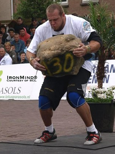 Travis Ortmayer Won big at Strongman Champions League - Holland this weekend, the first American to win one of these prestigious strongman contests.  IronMind® | Photo courtesy of SCL.
