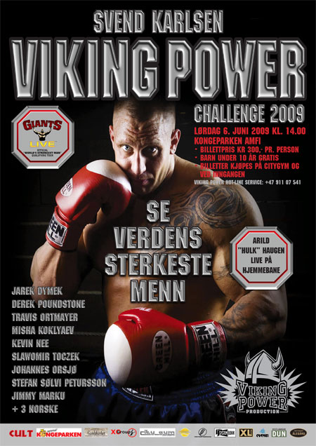 The Viking Power Challenge - it's a World's Strongest Man qualifier.  IronMind® | Artwork courtesy of Svend  Karlsen/Viking Power Productions.