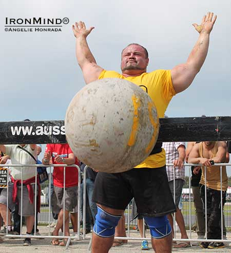 Warrick Brant was a big winner at the Hercules strongman competition in Australia.  IronMind | Angelie Honrada photo