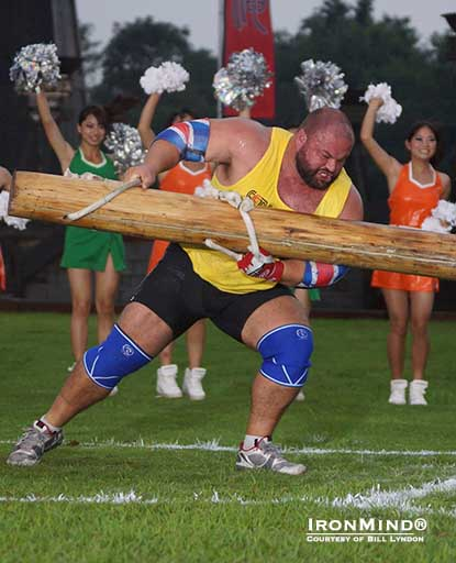 Who will prevail, the Vikerboks or the Vikeroos, and who will get the golden invitations in the first qualifier for World's Strongest Man 2013?  Warrick Brant (shown competing in SCL China) will be representing Australia and is expected to be big factor in the final outcome.   IronMind® | Photo courtesy of Bill Lyndon.
