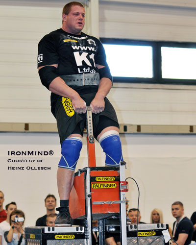 "Martin ""The Deadlift Kid"" Wildauer broke the world record in the Bavarian Stone Lift.  Is he headed toward the World's Strongest Man contest?  IronMind® 
