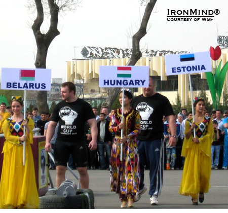 WSF World Cup strongman was in Tashkent, Uzbekistan in 2011 and will be returning later this month for the 2012 edition.  IronMind® | Courtesy of WSF World Cup.