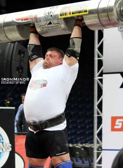 Zydrunas Savickas won both SCL Lithuania and the Log Lift World Championships this weekend.  IronMind® | Photo courtesy of SCL.