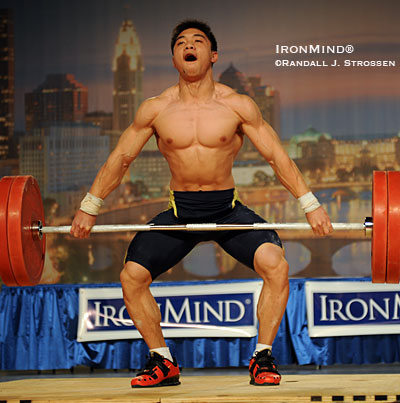 Lucky you if you were at the Arnold this year as, once again, special guests from the Chinese Weightlifting Association performed on the main stage of the Expo Hall, with this year's lineup including Junior World and Asian champion Zhang Jie. IronMind® | Randall J. Strossen photo.