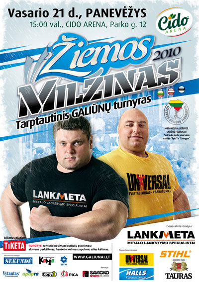 Zydrunas Savickas, the only man to have won all the major strongman titles in recent years, is showing early signs that 2010 might be more of the same for the man who seems to be able to break strongman records at will.  IronMind® | Photo courtesy of the Lithuanian Strongman Federation.