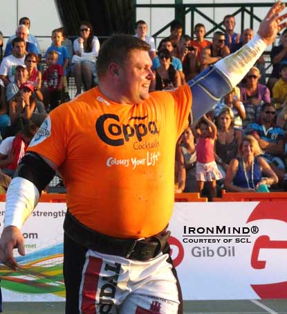 In the run-up to the World's Strongest Man contest, Zydrunas Savickas won SCL–Gibralter in commanding style.  IronMind® | Photo courtesy of SCL.