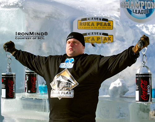 Talk about a cool strongman contest: the SCL Iceman Challenge is set in the Arctic Circle, but that's no problem for such hearties as Zydrunas Savickas.  IronMind® | Photo courtesy of SCL.