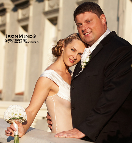 IronMind wishes the happy couple—Zydrunas and Jurgita—a lifetime of joy together.  IronMind® | Photo courtesy of Zydrunas Savickas.