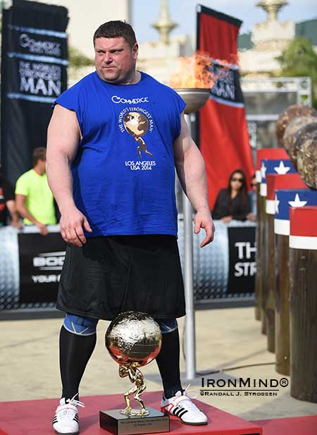 World's Strongest Man 2014 came down to the final event and when the dust settled, Zydrunas Savickas had bagged his fourth WSM title. Now strongman fans are speculating about who will win the 2015 edition of WSM: Brian Shaw, Johannes Årsjö and Martin Forsmark made the podium at Giants Live—Sweden, ensuring themselves an invitation to WSM 2015, the first step toward winning the highly-coveted title. IronMind® | Randall J. Strossen photo
