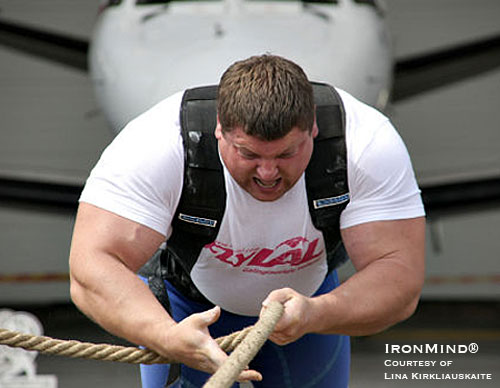 Quite possibly the strongest man on the professional strongman circuit, Zydrunas Savickas had a big year competing in the Strongman Champions League this season. IronMind® | Photo courtesy of Lina Kirkliauskaite.